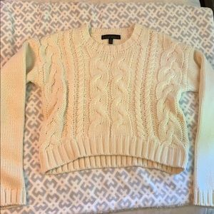Lucca Couture cropped cable knit sweater